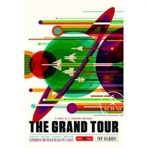 Vintage Poster Grand Tour Space Bij de Tijd: vintage & designmeubelen