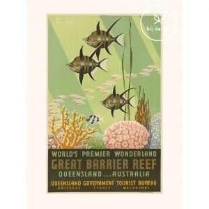 Vinage Poster Great Barrier Reef Bij de Tijd: vintage & designmeubelen
