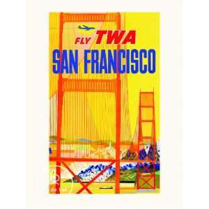 Vintage Poster San Francisco Air France Bij de Tijd: vintage & designmeubelen