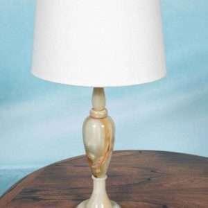 Regency style onyx tafellamp jaren 60, natuursteen schemer Bij de Tijd: vintage & designmeubelen