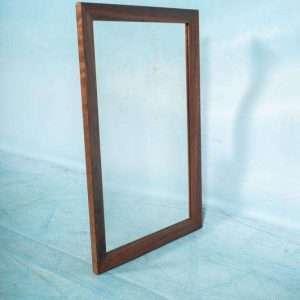 Vintage Deense palissander spiegel, facet rosewood mirror Bij de Tijd: vintage & designmeubelen