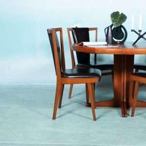 Vintage jaren 60 eetkamerstoelen, midcentury dining chairs Bij de Tijd: vintage & designmeubelen