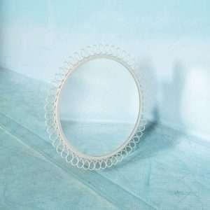 Vintage jaren 60 ronde wandspiegel, midcentury mirror retro Bij de Tijd: vintage & designmeubelen