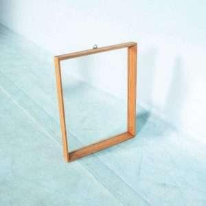 Scandinavische jaren 60 spiegel pine, bohemian minimalist Bij de Tijd: vintage & designmeubelen