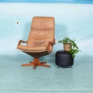 Vintage Deense relax stoel, midcentury lounge fauteuil Berg Bij de Tijd: vintage & designmeubelen
