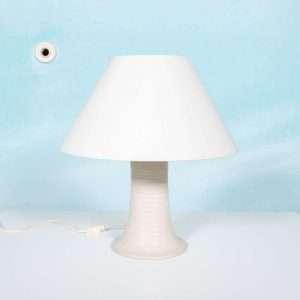Bohemian tafellamp jaren 60/70, natuurlijke tinten ribbels Bij de Tijd: vintage & designmeubelen