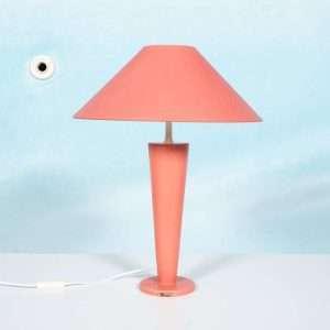 Memphis style keramische schemerlamp roze abstract vintage Bij de Tijd: vintage & designmeubelen