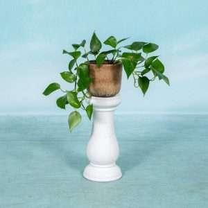 Vintage plantenzuil, boho keramische pilaar jaren 60/70 Bij de Tijd: vintage & designmeubelen