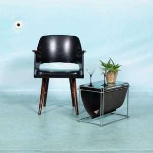 Vintage Pastoe bureaustoel jaren 60, Braakman FT30 teakhout Bij de Tijd: vintage & designmeubelen