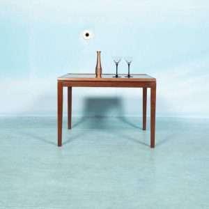 Vintage Deens design salontafel koper blad geponst, 60s Bij de Tijd: vintage & designmeubelen