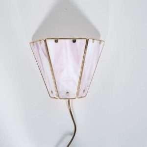 Set van twee vintage regency wandlampen jaren 60/70 messing Bij de Tijd: vintage & designmeubelen