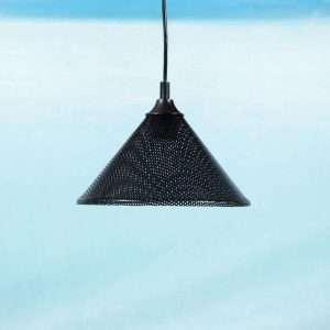 Vintage Pilastro hanglampje 70s80s, memphis zwart retro Bij de Tijd: vintage & designmeubelen