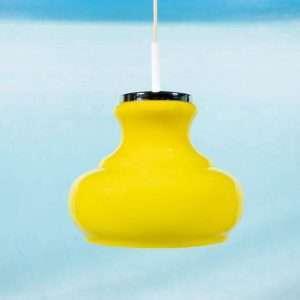 Vintage glazen hanglamp jaren 60/70, murano space age lamp Bij de Tijd: vintage & designmeubelen