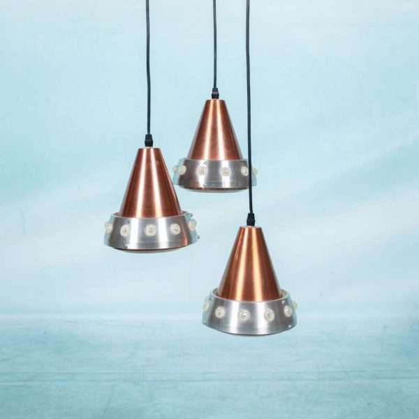 Vintage jaren 60 cascade hanglamp, space age kroonluchter Bij de Tijd: vintage & designmeubelen