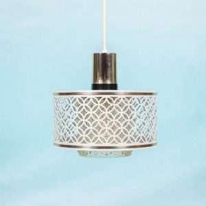Vintage jaren 60/70 sfeer hanglampje messing & glas Oosters Bij de Tijd: vintage & designmeubelen