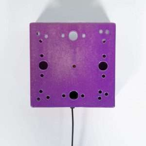 Space age paarse wandlamp jaren 60, keramische vintage lamp Bij de Tijd: vintage & designmeubelen