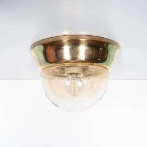 Vintage 60s Messing plafonlamp jaren 60, regency wandlamp Bij de Tijd: vintage & designmeubelen