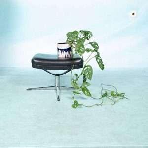 Vintage jaren 60 voetenbank, midcentury design ottoman Bij de Tijd: vintage & designmeubelen